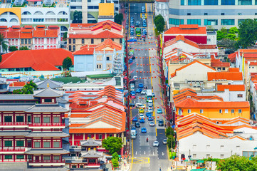 top view of Singapore Chinatown