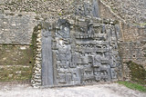 Stone relief at the ancient Maya archaeological site Caracol in Belize - 237562588