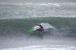 Surfing on the island of Sardinia (Italy)