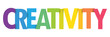 CREATIVITY colorful typography banner
