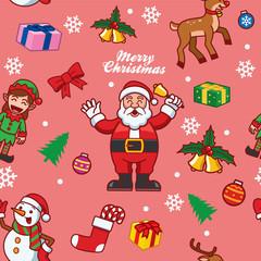 seamless santa claus and friend