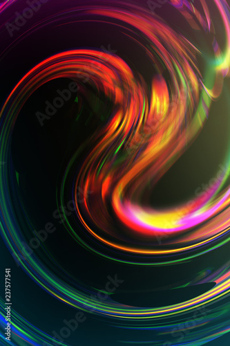 Wallpaper with liquid shape and colorful gradient. Trendy gradient holographic wallpaper. Abstract wallpaper with