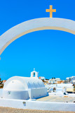 Church and the arch with cross - 237600754