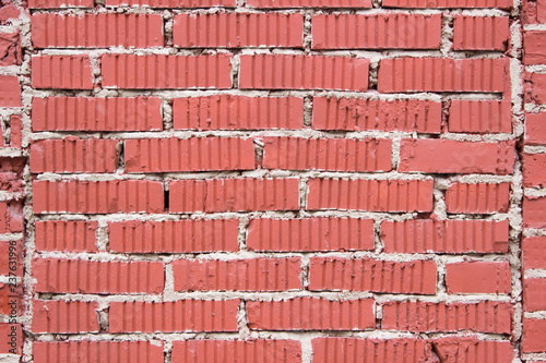 textured red brick wall of an old manufactory building - 237631996