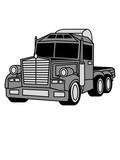 ohne anhänger lkw truck lastwagen fernfahrer fahren auto transport fahrer trucker groß clipart comic cartoon führerschein lieferant waren lieferung autobahn - 237644769