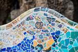 Détail mosaïques du parc Guell, Gaudi, Barcelone