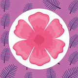 tropical leaf icon