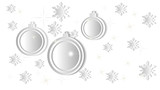 3D Christmas vector illustration with snowflakes, stars and ornaments.