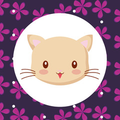 Cute animals and tropical leaves design