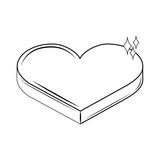 Romantic giftbox heart shaped - 237661360