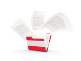 Folder with flag of austria - 237664776