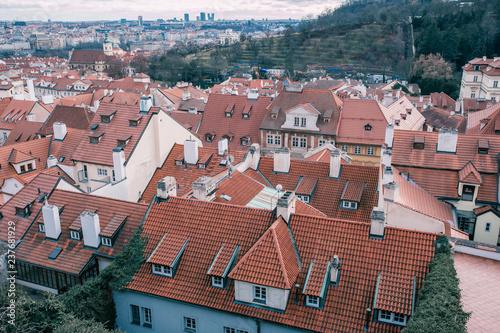 December advent Prague cityscape photo