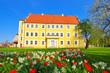canvas print picture - Luebben Schloss - Luebben castle in spring