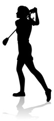 A female golfer sports person playing golf  © Christos Georghiou