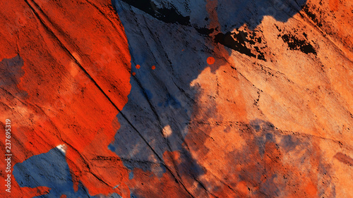 Colorful abstract stain watercolor . High resolution image, colors wet on dry paper background © Victor