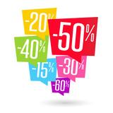 Promo / Pourcentages bulle - 237715917