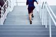 Leinwanddruck Bild - Fitness, health, and sport concept. Athletic man running upstairs