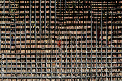 bamboo and metal fence background