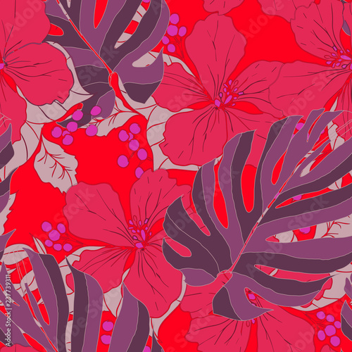 Beautiful seamless floral pattern background.  - 237739311