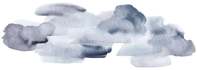 Winter watercolor texture. © apanfilova