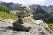 Quadro balanced stones in mountains