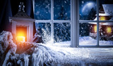 Chrismtas window and free space  - 237752122