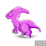 Dinosaur. cartoon style. Prehistoric. Bright. Children's. For your design. © Владимир Шерстнев