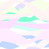 Vector seamless pattern of wavy multi-colored spots and stripes in pastel gentle colors