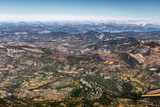 Panoramic view from Mont Serein Ventoux in Provence, France