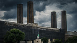 Industrial landscape Against A Stormy Sky - 237765593