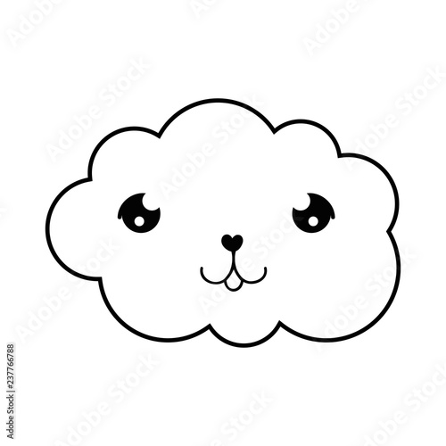 cute cloud kawaii character - 237766788