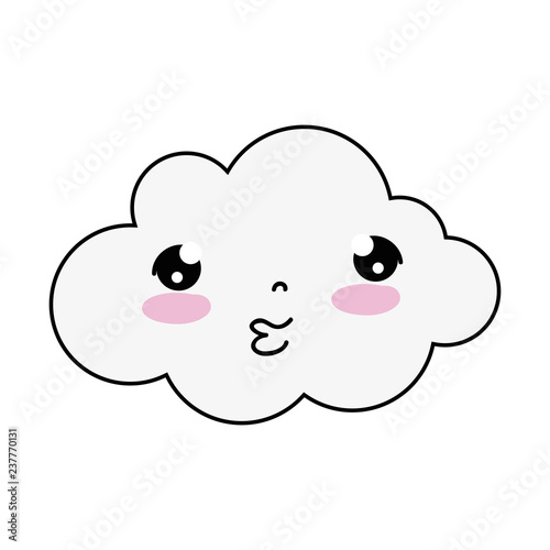 cute cloud kawaii character - 237770131
