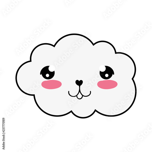 cute cloud kawaii character - 237770189