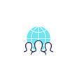 outsourcing icon, vector design