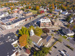Town Hall and Historic building aerial view in Needham, Massachusetts, USA. - 237780520