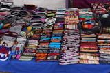 Tessuti al mercato di Otavalo