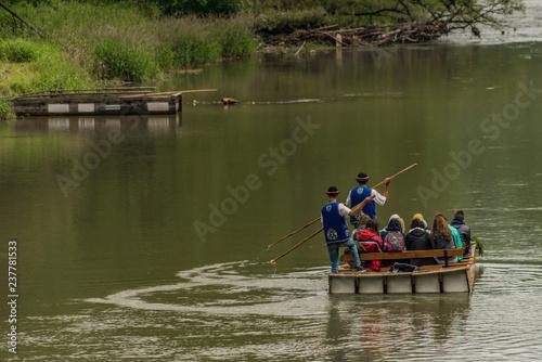Foto Murales Wooden boats in Pieniny national park near Poland and Slovakia border