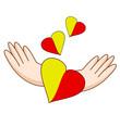 Logo autour du coeur