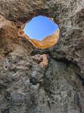 Sky through the rocks