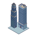 Company buildings isometric - 237786508