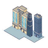 Company buildings isometric - 237786914