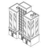Company building isometric black and white - 237788107