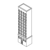 Company building isometric black and white - 237788123