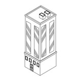 Company building isometric black and white - 237788131
