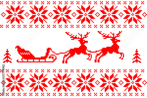 Christmas background with deers - 237794962