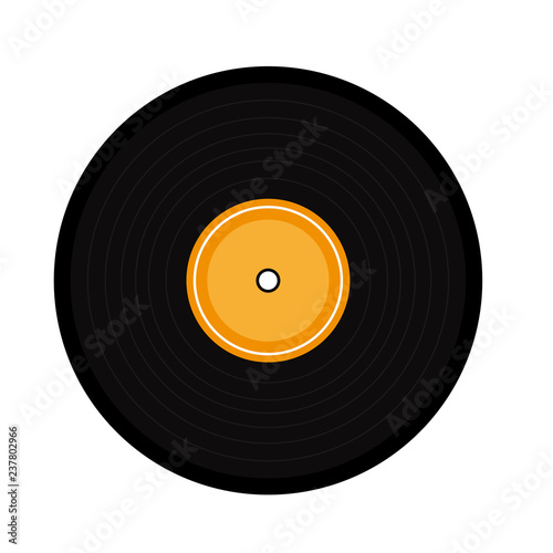 Music vinyl cartoon