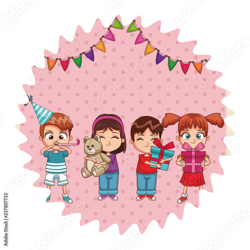 Kids on birthday party - 237807733