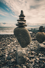 "Постер, картина, фотообои ""Stones balance. Well-balanced of pebbles"""