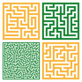 Set of colorful mazes/ Good for logo or icon, Vector background illustration. - 237815963