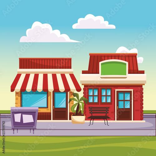 restaurant street landscape